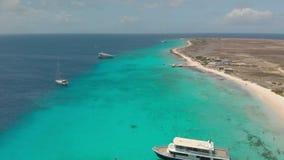 克伦库拉索岛海岛 寄生虫射击 股票视频