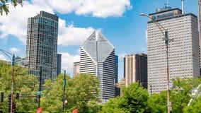 克兰塔和谨慎大厦在芝加哥-芝加哥,美国- 2019年6月12日 图库摄影