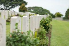克兰芝战争公墓,新加坡 库存照片