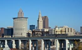 克利夫兰俄亥俄地平线 免版税库存图片