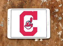克利夫兰印第安人棒球队商标 图库摄影