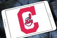 克利夫兰印第安人棒球队商标 库存图片