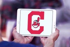 克利夫兰印第安人棒球队商标 免版税库存图片