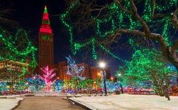 克利夫兰圣诞节 免版税库存照片