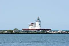 克利夫兰港口西方灯塔的pierhead 库存图片