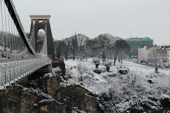 克利夫顿吊桥布里斯托尔 库存照片