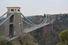 克利夫顿吊桥,布里斯托尔,英国 库存图片