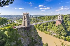克利夫顿吊桥,布里斯托尔, Avon,英国,英国 库存图片