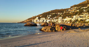 克利夫顿第四个海滩,开普敦,南非 库存照片