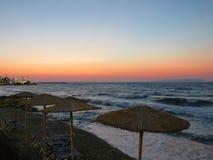 克利特北海岸的壮观的风景  库存照片
