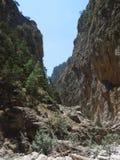 克利特峡谷希腊海岛samaria 库存图片