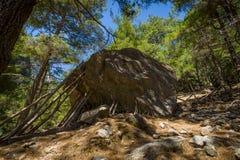 克利特峡谷希腊海岛samaria 免版税库存图片