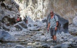 克利特峡谷希腊海岛samaria 库存照片