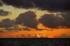 克利特希腊海岛地中海日落 库存照片