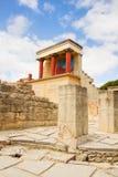 克利特希腊knossos宫殿 免版税库存照片
