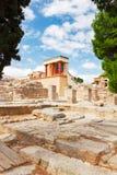 克利特希腊knossos宫殿 库存图片