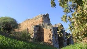 克利特海岛的古老历史的地方Aptera 图库摄影