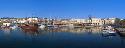 克利特海岛的Rethymnon市在希腊 库存照片