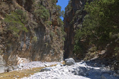 克利特海岛的Samaria峡谷 图库摄影