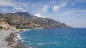 克利特海岛- Sougia的南部分 免版税图库摄影