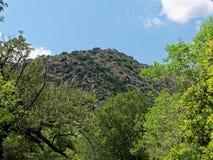 克利特的里面Aposelemi峡谷 图库摄影