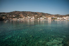 克利特的,希腊蓝色盐水湖 免版税库存照片