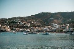 克利特的,希腊蓝色盐水湖 图库摄影