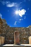 克利特的,希腊Knossos Knossos宫殿宫殿 库存图片