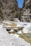 克利特的Samaria峡谷在希腊 免版税库存图片