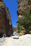 克利特的Samaria峡谷 免版税图库摄影