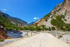 克利特的Samaria峡谷 免版税库存图片