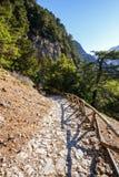 克利特的Samaria峡谷 免版税库存照片