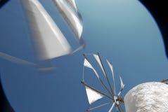 克利特移动风车 免版税库存图片