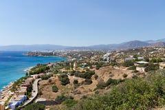 克利特,希腊江边  免版税库存照片
