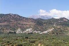 克利特,希腊风景  免版税图库摄影