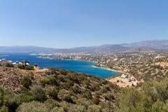 克利特,希腊鸟瞰图  库存照片