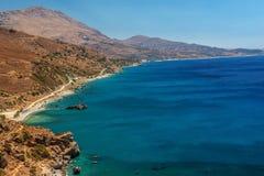 克利特,希腊:棕榈海湾 免版税库存照片