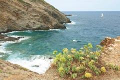 克利特 巴厘岛海湾海岸北克利特的海岛 免版税库存照片