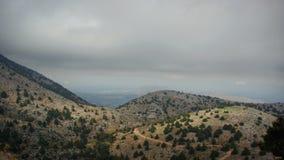 克利特 大横向山山 Lefka Ori地区 库存图片