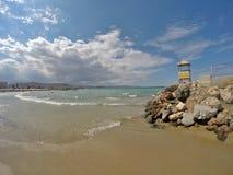 克利特Beautifull海岸  古韦斯 免版税库存图片