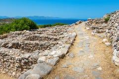 克利特gournia希腊废墟 免版税库存照片