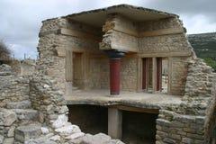 克利特knossos宫殿废墟 图库摄影
