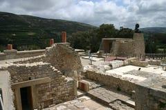 克利特knossos宫殿废墟 免版税库存照片
