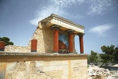 克利特knossos寺庙 免版税图库摄影