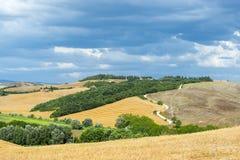 克利特Senesi (托斯卡纳,意大利) 免版税库存照片