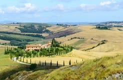 克利特Senesi (托斯卡纳,意大利) 库存图片