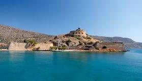 克利特Spinalonga堡垒希腊 免版税图库摄影