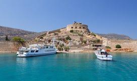 克利特Spinalonga堡垒希腊 免版税库存照片