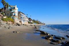 克力街海滩,拉古纳海滩,加利福尼亚 免版税库存图片
