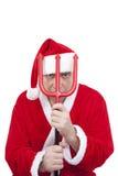 克劳斯・圣诞老人三叉戟 库存照片